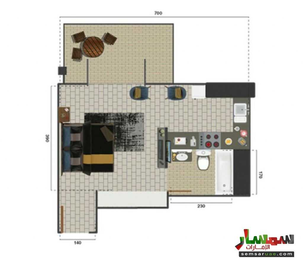 Photo 4 - Apartment 1 bedroom 1 bath 1138 sqft super lux For Sale Jumeirah Dubai
