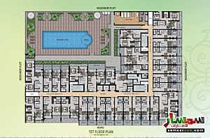 Apartment 2 bedrooms 1 bath 848 sqft extra super lux For Sale Umm Suqeim Dubai - 11
