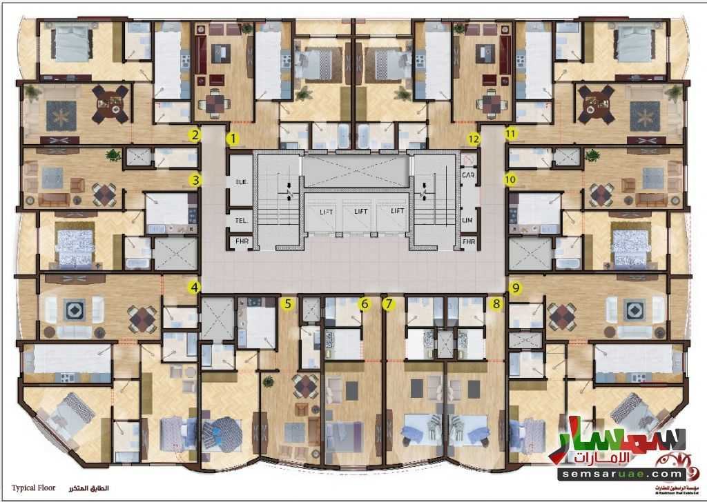 Photo 1 - Apartment 1 bedroom 1 bath 50 sqm super lux For Sale Al Alia Ajman